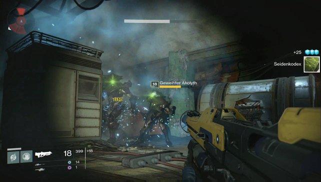 Materialien wie Seidenkodex lassen Gegner fallen oder ihr findet die in den Levels versteckten Kisten.