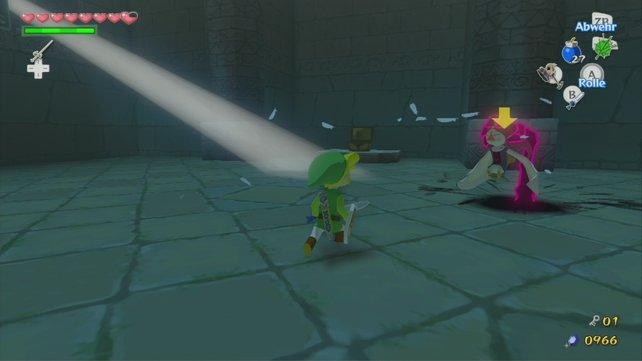 Nehmt euch vor den Händen in Acht. Kriegen sie euch zu fassen, dann werdet ihr in einem anderen Raum des Tempels wieder abgesetzt.