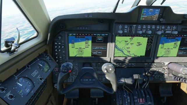 Immersives Spielerlebnis dank Flugsimulationscontroller.