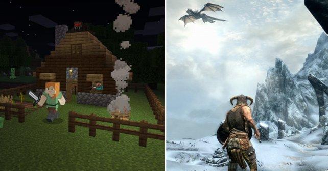 Minecraft und Skyrim passen auffallend gut zusammen
