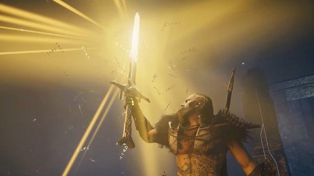 Excalibur wartet darauf, von euch aus dem Stein gezogen zu werden.