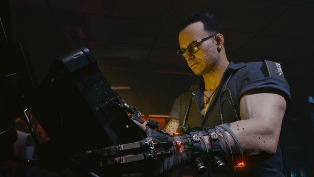 Der Ripperdoc kümmert sich um eure Cyber-Implantate.