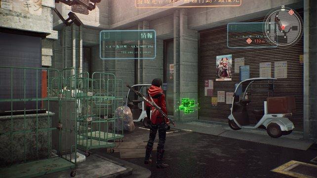 Die leuchtend grüne Kästchen findet ihr überall verteilt.