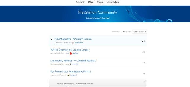 Im PlayStation-Community-Forum tauschen sich die Spieler seit vielen Jahren über ihre Lieblings-Games aus, aber auch über Themen wie Musik und Animes.