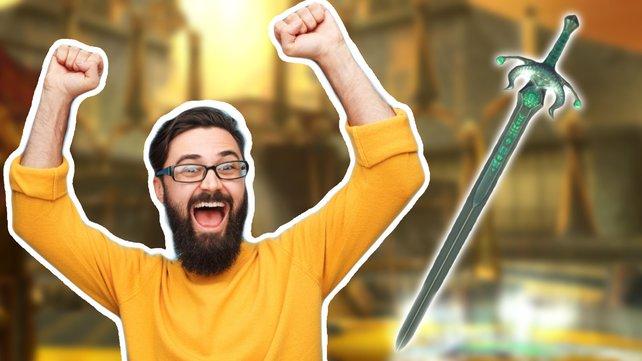 Spieler finden nach langem Suchen eine besonders gut versteckte Waffe. Bild: ArenaNet / Getty Images - max-kegfire