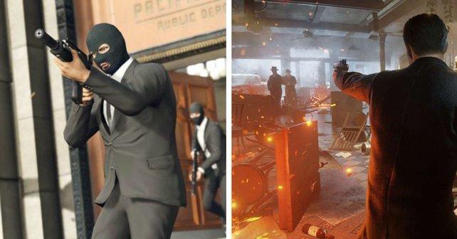 GTA 5 versus Mafia Definitive Edition: Die eine Welt ist glatt und perfekt, die andere blutig und schmutzig.