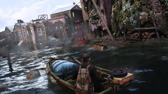 Die überflutete Stadt selbst lässt die Spieler paranoid werden.