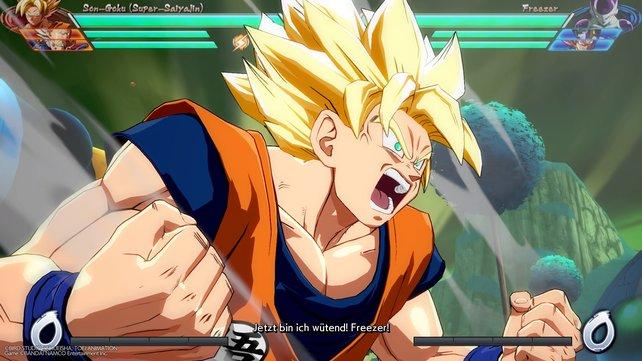 Auf Namek findet der große Kampf zwischen Goku und Freezer statt. Dieser wird mit einem dramatischen Intro eingeleitet, das sich sehen lassen kann.