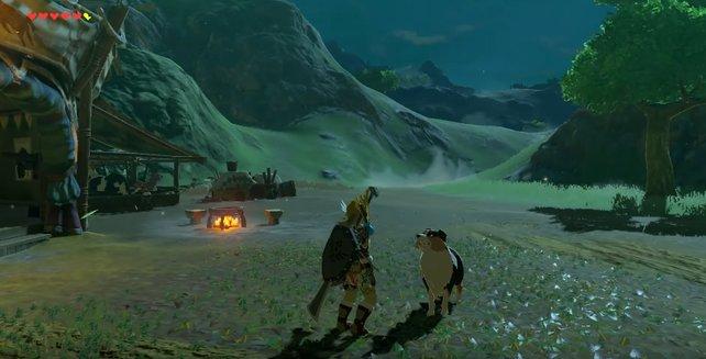 Die Hunde in Zelda - Breath of the Wild mögen Fleisch und Früchte.