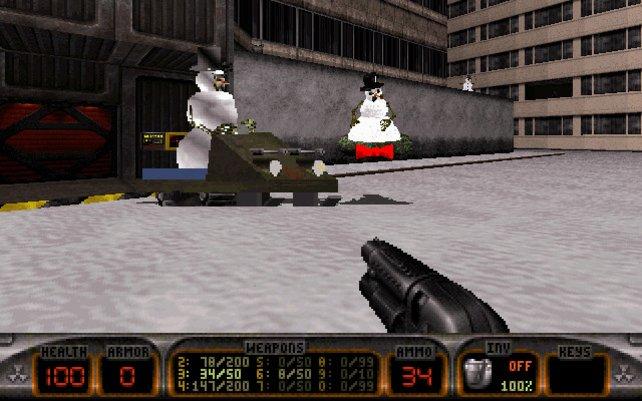 Schneemänner laufen Amok.