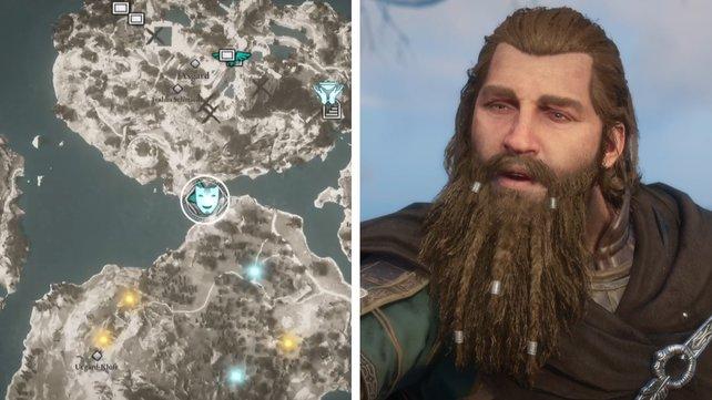 Die Karte euch zeigt den Standort von Thor.