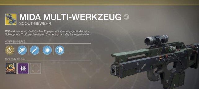 Hier erfahrt ihr es: So könnt ihr das MIDA Multi-Werkzeug auch in Destiny 2 bekommen.