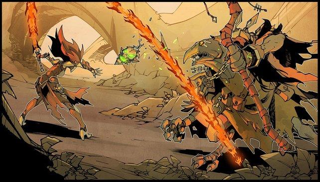 Die Konzeptgrafik zeigt schon recht genau, wie Fury im Kampf agiert.