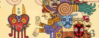 Künstlerin verwandelt bekannte Videospiel-Charaktere in Aztekenkunst