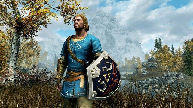 Link in Skyrim? Mitnichten, aber in der Switch-Version des Rollenspiels gibt es exklusive Ausrüstungsgegenstände.