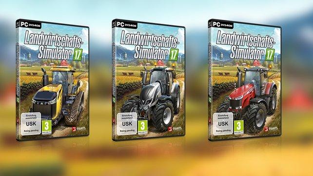 """Traktoren der Marken """"Massey Ferguson"""", """"Challenger und Valtra"""" sind auf dem Cover abgebildet."""