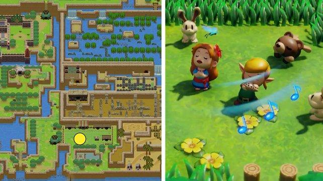 Hier lernt ihr die Ballade vom Windfisch in Zelda: Link's Awakening.
