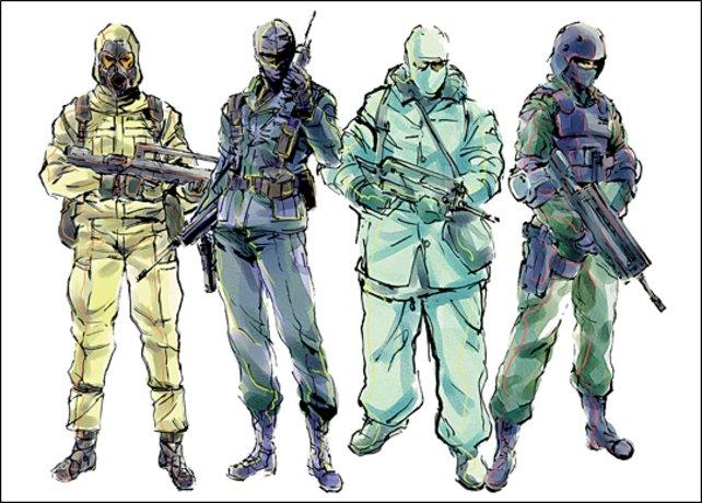 Genomsoldaten aus Metal Gear Solid