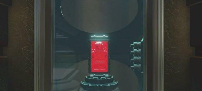 Ihr müsst Carbonit finden und Carbonit schmelzen, um neue Charaktere freischalten zu können. Auf dem Bild seht ihr, wie es aussieht, wenn ein Carbonit-Block aufgetaut wird.