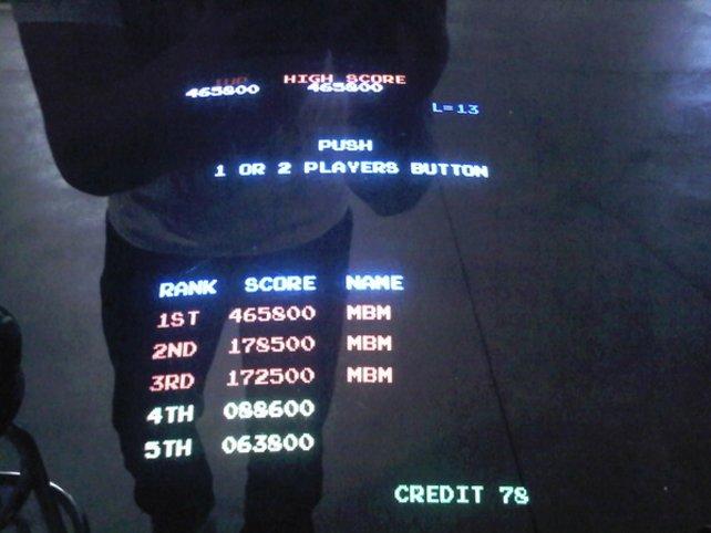 Hier seht ihr Eminems Highscore von 465.800 Punkten.