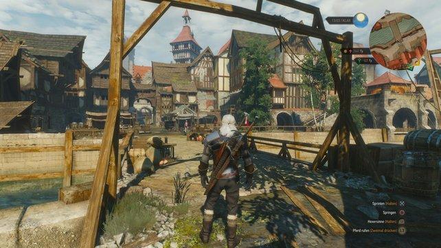 Zwischen vielen ländlichen Gebieten bieten die Städte Novigrad und Oxenfurt optische und spielerische Abwechslung.