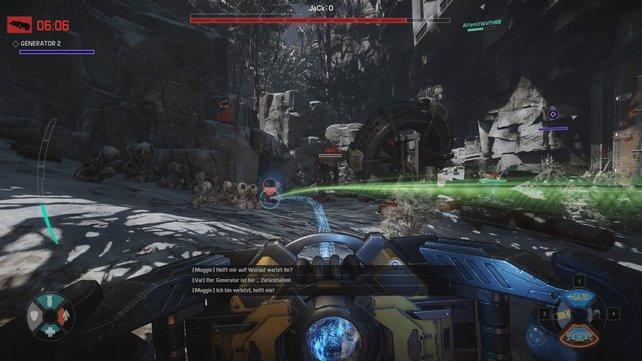 Das Zusammenspiel der Jäger ist wichtig, um gegen das Monster zu bestehen