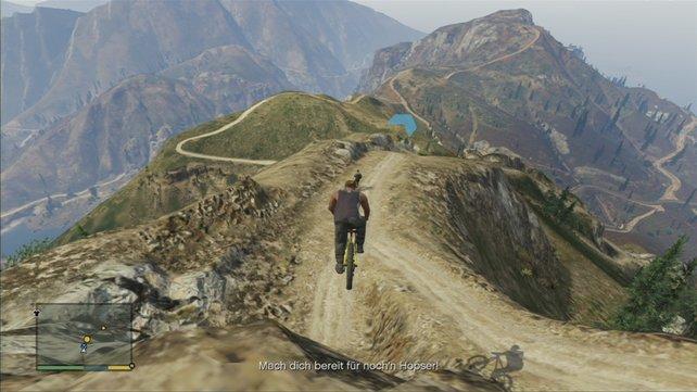 Am Ende noch das Mountainbike-Rennen und der Puls rast.