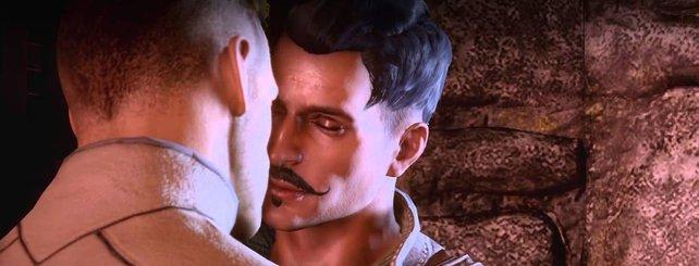 Selten in Videospielen: Queere Männer. Hier Dragon Age - Inquisition.