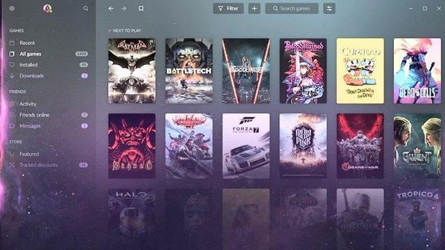 GOG bietet mittlerweile neben dem einfachen Vertieb von Games auch einen eigenen Launcher samt Spielebibliothek.