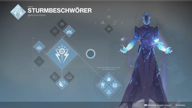 Ein Warlock als Sturmbeschwörer löscht Gegnergruppen mit Leichtigkeit aus.