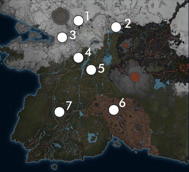 Die Karte von Magalan und die sieben Konverter des Landes.