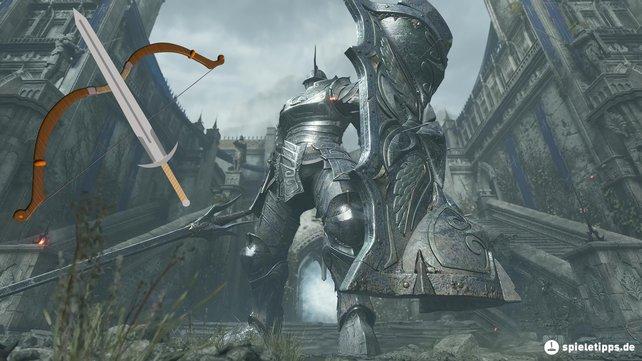 Der Turmritter ist der Endgegner in Welt 1-2 von Demon's Souls.