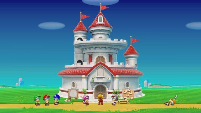 Spoiler: Allzu lange bleibt das Schloss dort nicht mehr stehen.