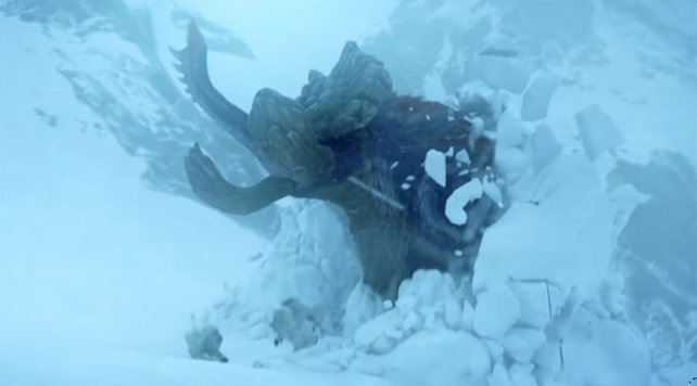 Gammoth: Die bisher größte Reißzahnbestie findet ihr in den Schneegebirgen.
