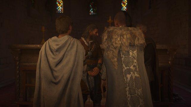 Durch die Hochzwit von Valdis und Oswald wird das Bündnis zwischen Sachsen und Dänen geschlossen.