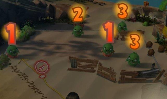 Bei Angry Birds Evolutions sind die Zahlen über den Köpfen der Schweine und der Vögel wichtig, um strategische Vorbereitungen zu treffen. Einer der einfachen, aber wichtigen Tipps.