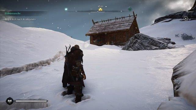 Die Hütte befindet sich in Norwegen, westlich von Fornberg.