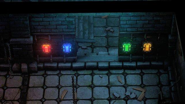 Das Runen-Rätsel befindet sich in der Folterkammer des Schildlabyrinths.
