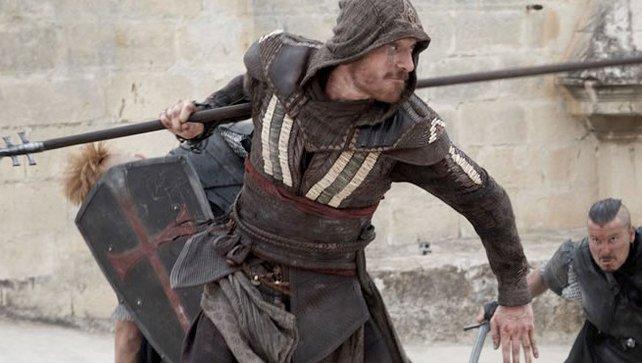 Schauspieler Michael Fassbender in Aktion!