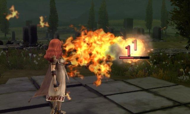 Celica ist sowohl mit dem Schwert als auch mit Magie eine versierte Kämpferin.