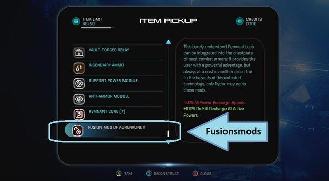 Wir zeigen euch die Fundorte und Effekte aller 11 Fusionsmods in Mass Effect - Andromeda.