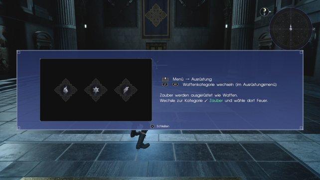 Bei Final Fantasy 15 müsst ihr Zauber genauso ausrüsten wie Waffen.