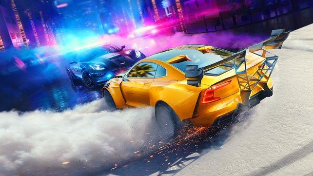 Need for Speed: Heat - Ganz im Zeichen trendiger 80er Ästhetik.