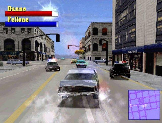 Ein zerbeulter Wagen und jede Menge Bullen am Kotflügel: Driver macht 1999 Verfolgungsjagden salonfähig.