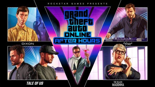 Die vier DJs, die es in GTA Online - After Hours gibt bzw. geben wird.