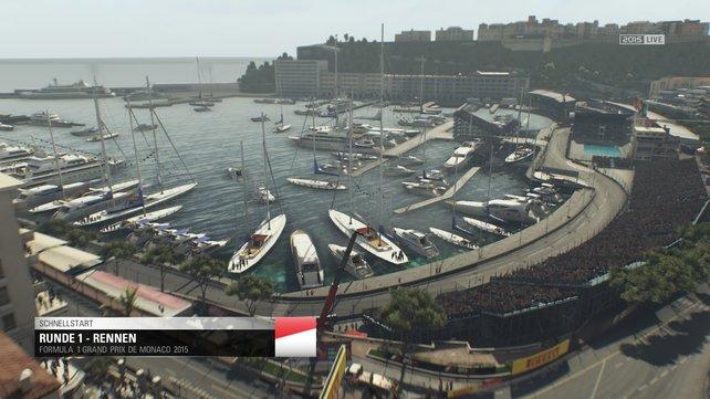 Foto oder Spielgrafik? Monaco sieht in F1 2015 wirklich beeindruckend aus.