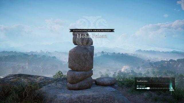 So sieht die Lösung des Steinmännchen-Rätsels in Sudseaxe aus.