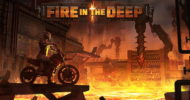 In Fire in the Deep geht es in Trials Fusion heiß her.