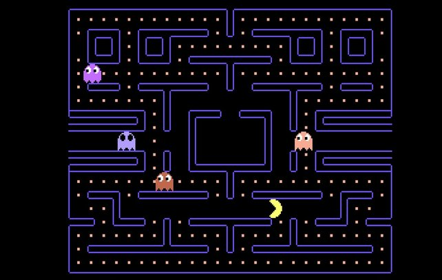 Simpel aber eingängig: Es gibt niemanden, der Pacman nicht kennt.
