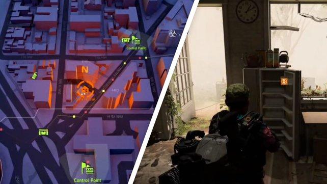 Links seht ihr den Standort des Safehouses, rechts den Kühlschrank mit einer Chance auf Insulin.